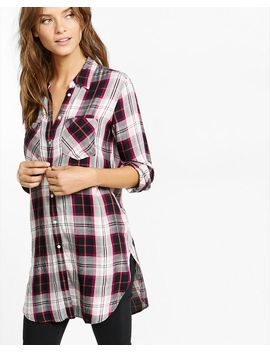 berry-and-black-plaid-tunic-shirt by express