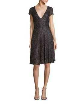 beaded-fit-&-flare-dress by badgley-mischka