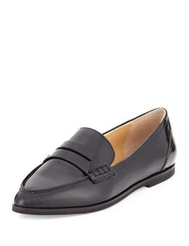 connor-patent-leather-penny-loafer,-black by michael-michael-kors