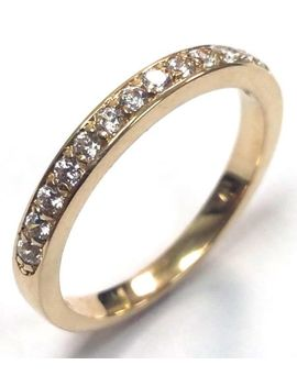 022-traditional-bridal-14k-yellow-gold-wedding-band-with-diamonds by ebay-seller