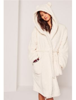 white-soft-fleece-ear-teddy-dressing-gown by missguided