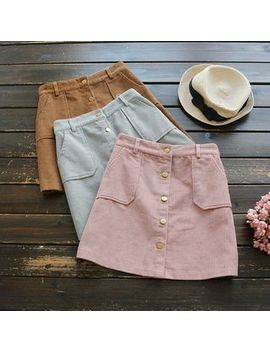 corduroy-mini-skirt by yoyo