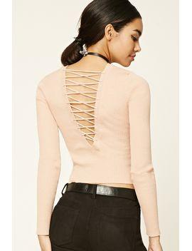 crisscross-back-sweater by forever-21