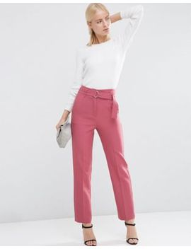 asos-highwaist-pants-with-belt-detail by asos-collection