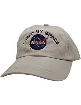 nasa-i-need-my-space-embroidered-washed-cotton-cap by armycrew