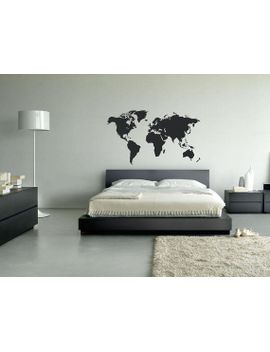 vinyl-world-map-decal---world-map-wall-decals---world-map-wall-art---world-wall-decal---world-map-custom-sizes-for-offices,-bedrooms by vinylmeister