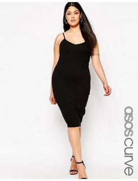 asos-curve-cami-midi-bodycon-dress by asos-curve