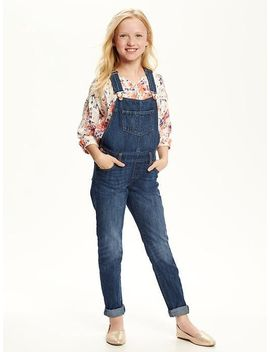 denim-overalls-for-girls by old-navy