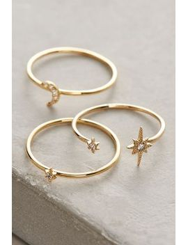 celestial-stacking-rings by anthropologie
