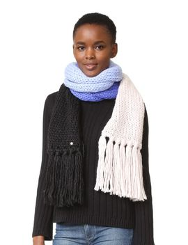chunky-knit-colorblock-muffler by kate-spade-new-york