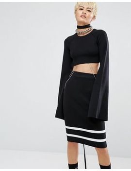 fenty-x-puma-by-rihanna-cropped-top-with-extreme-long-sleeves by puma