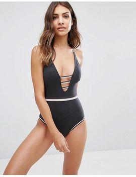 new-look-stripy-elastics-sporty-bodysuit by new-look