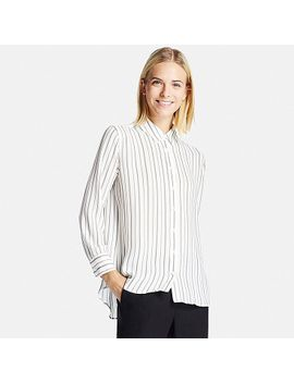 women-soft-woven-long-sleeve-blouse by uniqlo