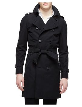 the-wiltshire-long-heritage-trench-coat,-black by burberry