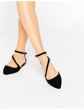 carvela-maverick-strap-point-flat-shoes by carvela