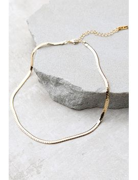 just-believe-gold-chain-choker-necklace by lulus