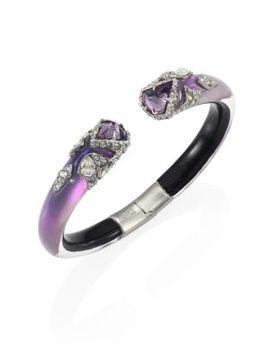 crystal-encrusted-lucite-hinge-bracelet by alexis-bittar