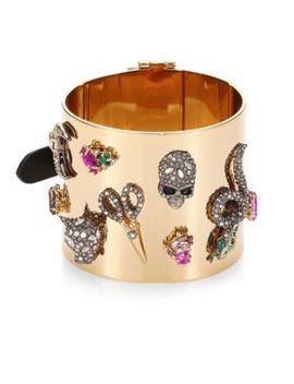 crystal-encrusted-charm-cuff-bracelet by alexis-bittar