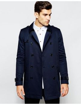 asos-shower-resistant-trench-coat-with-double-breast-in-navy by asos