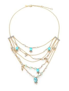 elements-crystal,-howlite-&-fluorite-spike-accented-multi-strand-necklace by alexis-bittar