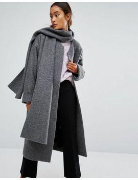 monki-scarf-coat by monki