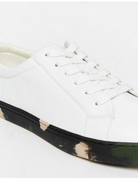 asos-lace-up-trainers-in-white-with-khaki-camo-sole by asos