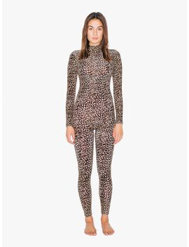 printed-cotton-spandex-turtleneck-catsuit by american-apparel