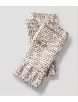 marled-fingerless-gloves by loft
