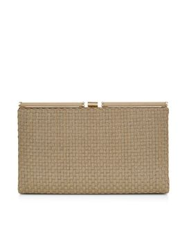 holly-woven-hardcase-clutch-bag by accessorize