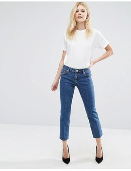 asos-petite-castile-pencil-straight-leg-jeans-in-vintage-darkwash-blue by asos-petite
