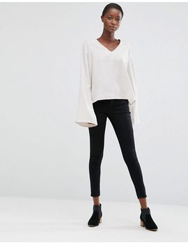 minimum-moves-enny-flared-sleeve-blouse by top