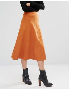 warehouse-fit-and-flare-knitted-skirt by warehouse