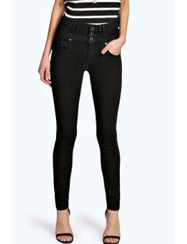 sandy-super-high-waisted-skinny-jeans by boohoo
