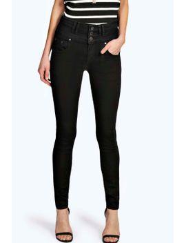 sandy-super-high-waisted-skinny-jeans by boohoo