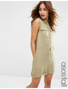 asos-tall-utility-slouch-playsuit by asos-tall