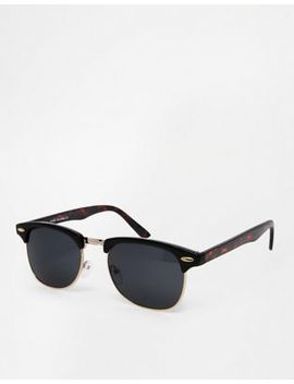 asos-contrast-retro-sunglasses-in-black-and-tortoiseshell by asos