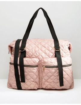 asos-lifestyle-quilted-zip-pocket-holdall by asos-collection