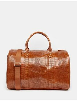 asos-smart-holdall-in-tan-croc by asos