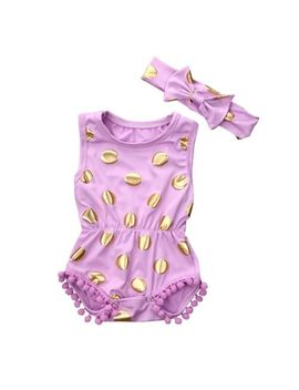 pretty-newborn-baby-girl-clothes-polka-dot-romper-jumpsuit-sunsuit-outfits-0-18m by unbranded