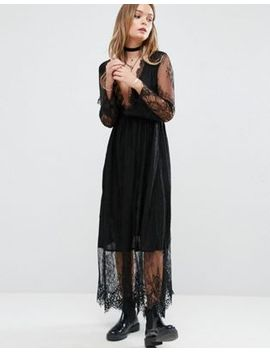 glamorous-midi-dress-in-lace by glamorous