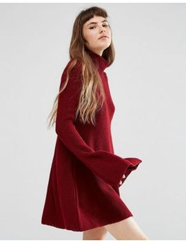 rokoko-knitted-high-neck-swing-dress by rokoko