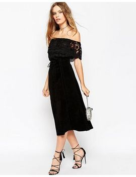 asos-suede-midi-skirt-with-heavy-stitching-and-tie-front by asos-collection