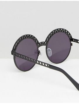 house-of-holland-round-flat-lens-sunglasses-in-black by house-of-holland