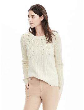 beaded-sweatshirt by banana-repbulic