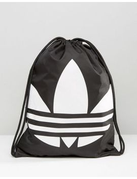 adidas-originals-drawstring-backpack-in-black-aj8986 by adidas-originals