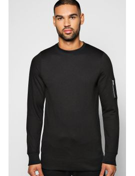 ma1-crew-neck-sweatshirt by boohoo