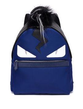 monster-fox,-kidassia-&---leather-backpack by fendi