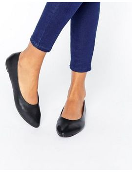 new-look-leather-point-ballet-pump by new-look