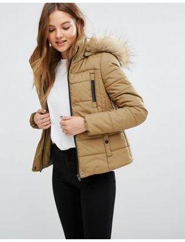 vero-moda-short-padded-faux-fur-trim-jacket by vero-moda
