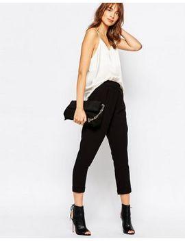 vila-wrap-front-peg-trousers by vila
